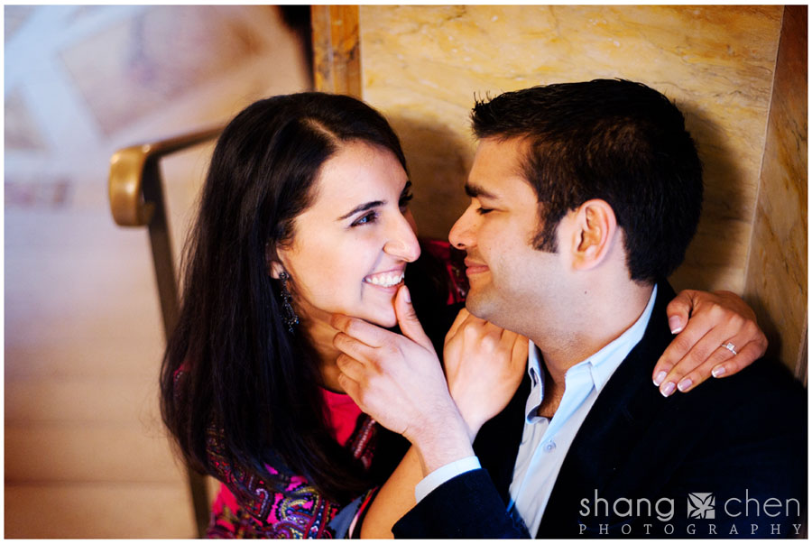 Boston Public Library engagement photos