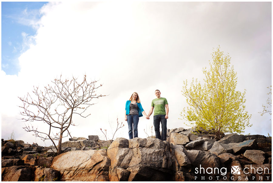 Boston engagement photos in Quincy