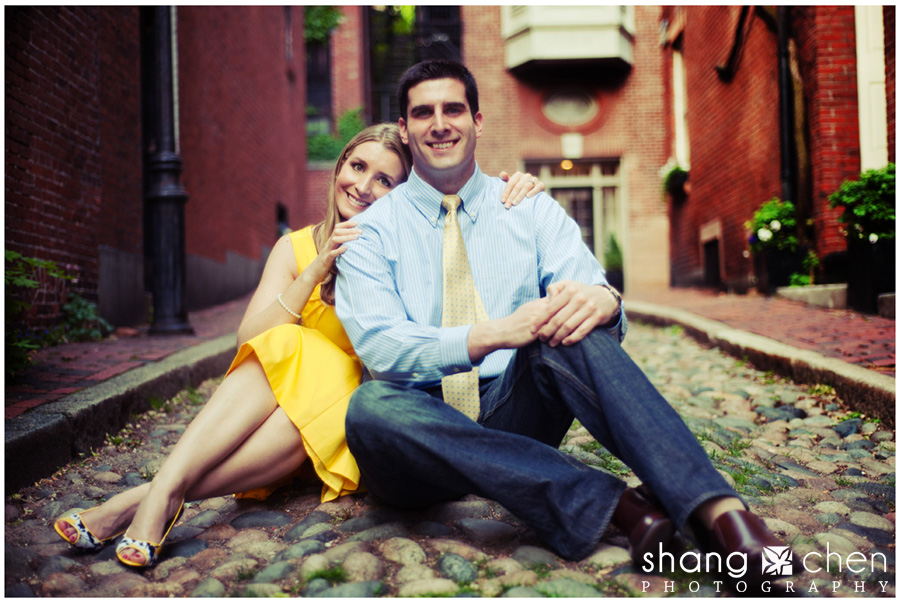 Boston engagement photos in Beacon Hill