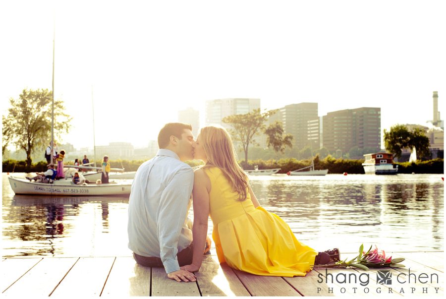 Boston engagement photos at the Esplanade