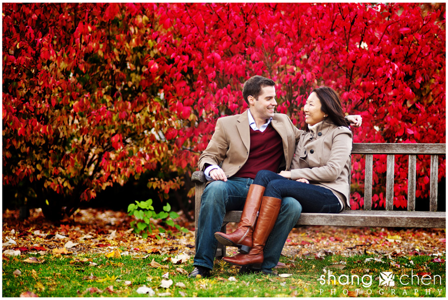 Moah And Dan's Engagement Shoot At University Of Chicago