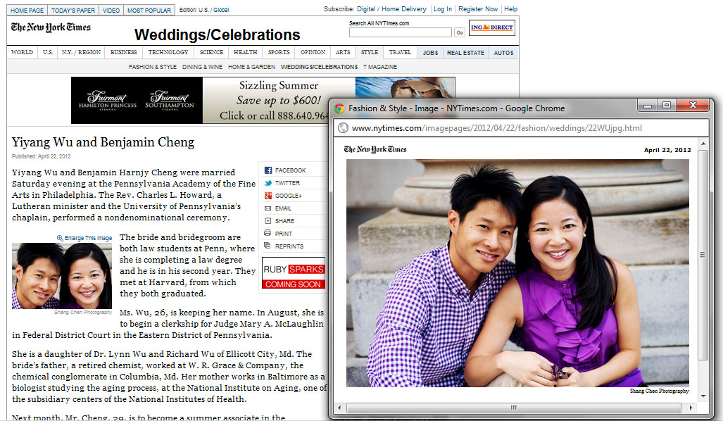New York Times Wedding Announcement.Recent Press Destination I Do The New York Times And Maharani