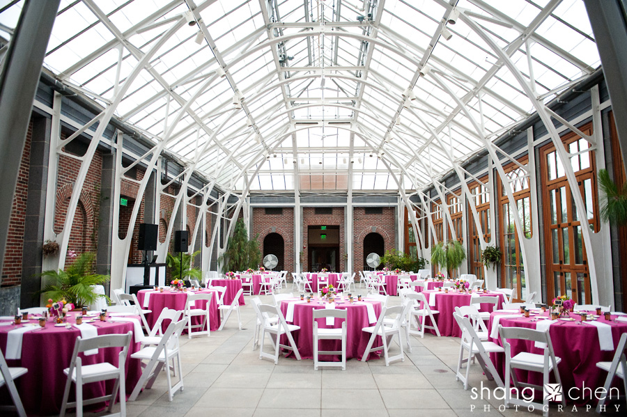 the wedding used a wonderful and fun shade of fuchsia it was peony season my favorite flower and little chalkboard signs signaling places where monica - Tower Hill Botanic Garden Wedding