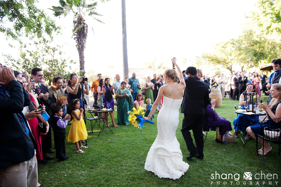 Alexis and hersh married napa valley wedding for Vineyard wedding dresses for guests